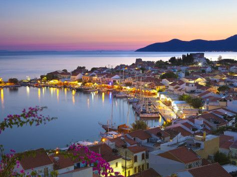 Harbour at Dusk, Pythagorion, Samos, Aegean Islands, Greece Photographic Print by Stuart Black at AllPosters.com