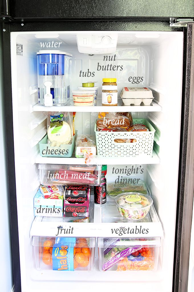 If you're struggling with how to organize a small refrigerator, this post is for you! Click through to learn tips and tricks to help you stay organized!