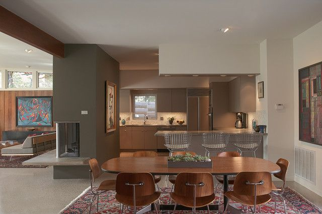 Midcentury-Dining-Room-Interior-Integrating-Cheap-Dining-Room-Sets-with-Wood-Abundance-and-Steel-on-Legs.jpg 640×426 pixels
