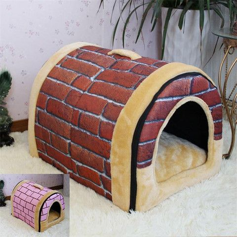 Soft Pet Warm Dog Bed Kennel Mat Soft Fleece Pet Dog Puppy  Bed House - Dog Shoes And Dog Booties - 1