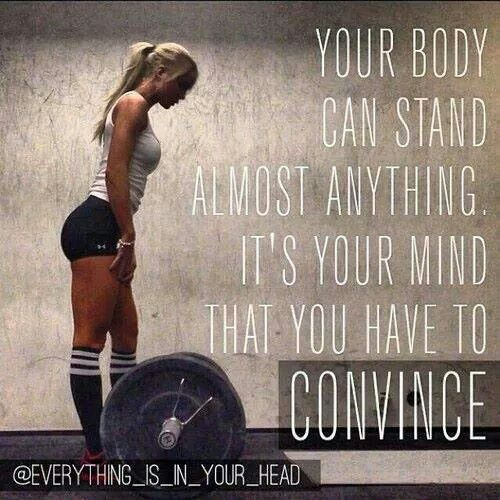 """Your body can stand almost anything. It's your mind that you have to convince."" #Fitness #Inspiration #Quote"
