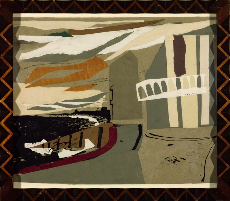 John Piper, Littlestone-on-Sea, ink and collage, 1936