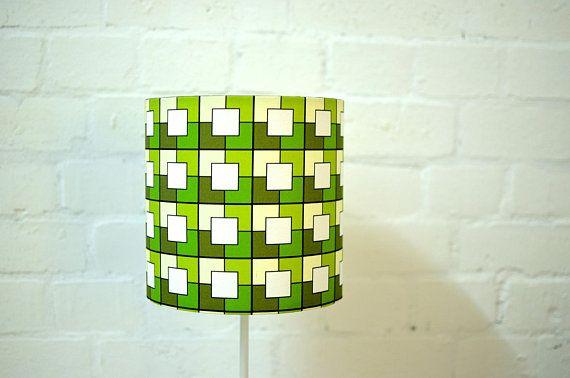 Square lamps Geometric Lampshade Green lamp shade green