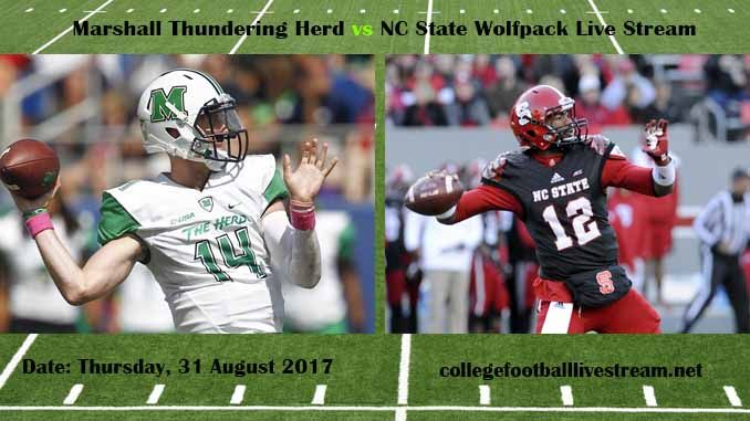 Marshall Thundering Herd vs NC State Wolfpack Live Stream Teams: Herd vs Bruins Time: 6:00 PM ET Week-2 Date: Saturday on 9 September 2017 Location: Carter-Finley Stadium, Raleigh, NC TV: ESPN NETWORK Marshall Thundering Herd vs NC State Wolfpack Live Stream Watch College Football Live Streaming...