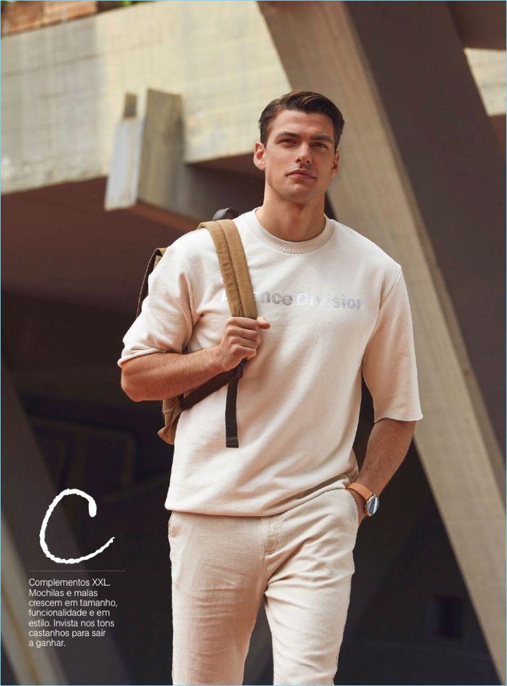 Tudo as Claras: Filip Wolfe Models Smart Neutrals for Men's Health Portugal - The Fashionisto