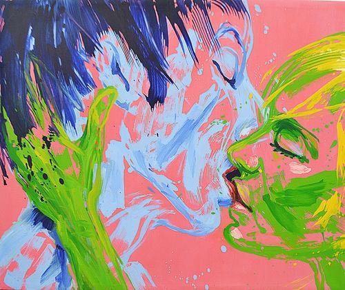 MLADIN VALERIU (n. 1958 ) Sãrutul / The kiss
