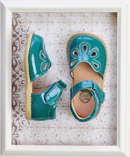Livie and Luca Turquoise Petal Shoes