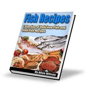 Enjoy this collection of delicious fish recipes, including recipes for Sword Fish, Mullet, Mackerel, Eels Salmon, Codfish, Haddock,  Delicious Fish Recipes: Halibut, Turbot, Shad, Blue-fish, Black-fish, White-fish, Sea-Bass, Rock-Bass, , Lobsters, Oysters, Crabs, Shrimp, Clams, Scallops and more.