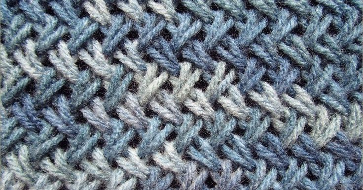 Knitted in a multiple of 2 sts + 1 and 2-row repeat.  Row 1 (Right side): Slip 1 with yarn in back, * knit through the back loop of the se...