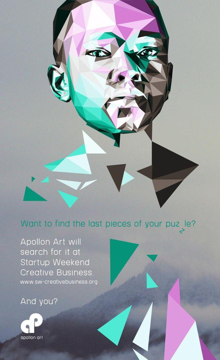 Advertising for the Startup Weekend Creative Business Designer: Sabrina Bruehwiler, Apollon Art (www.apollon-art.ch) #Startup #Apollon Art #SWCB14 #design