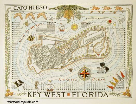 Key West Florida. Cayo Hueso.: FLORIDA) Suchy, Arthur B. (illus).