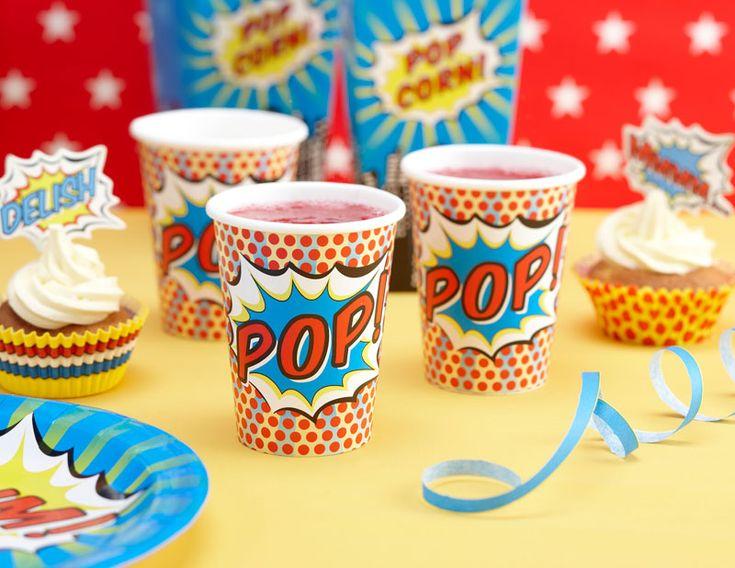 : PAPER CUPS   POP ART PARTY #hatchandblossom