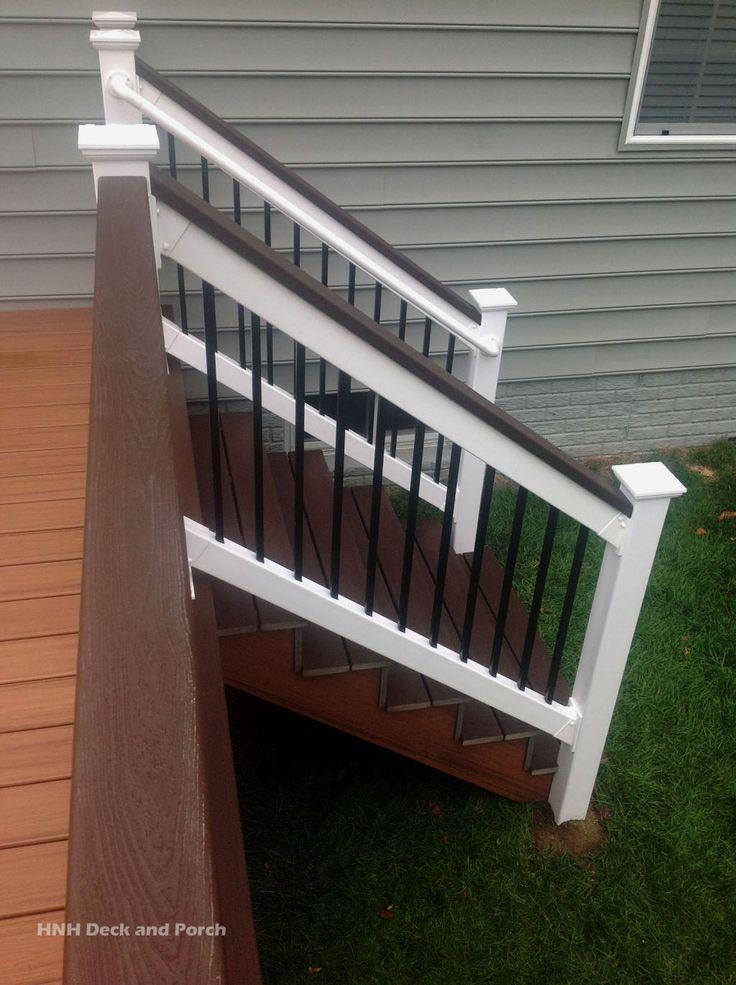 Trexcompany Transcend Composite Deck Steps Using Tiki