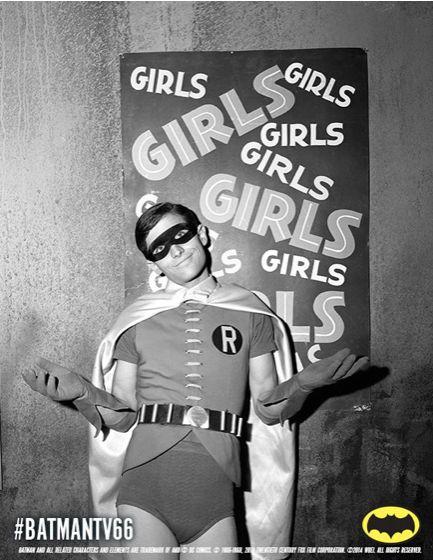 Cutest picture ever of Robin (Burt Ward)