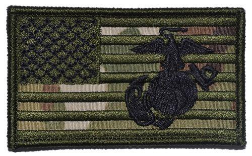 USA Flag with Superimposed USMC EGA
