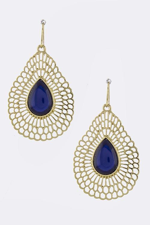Charlie Earrings in Royal on Emma Stine Limited