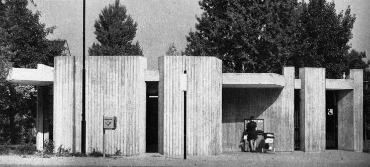 Post Office, Salzgitter-Lebenstedt, Germany, 1972 (Wolf-Georg Castorf)