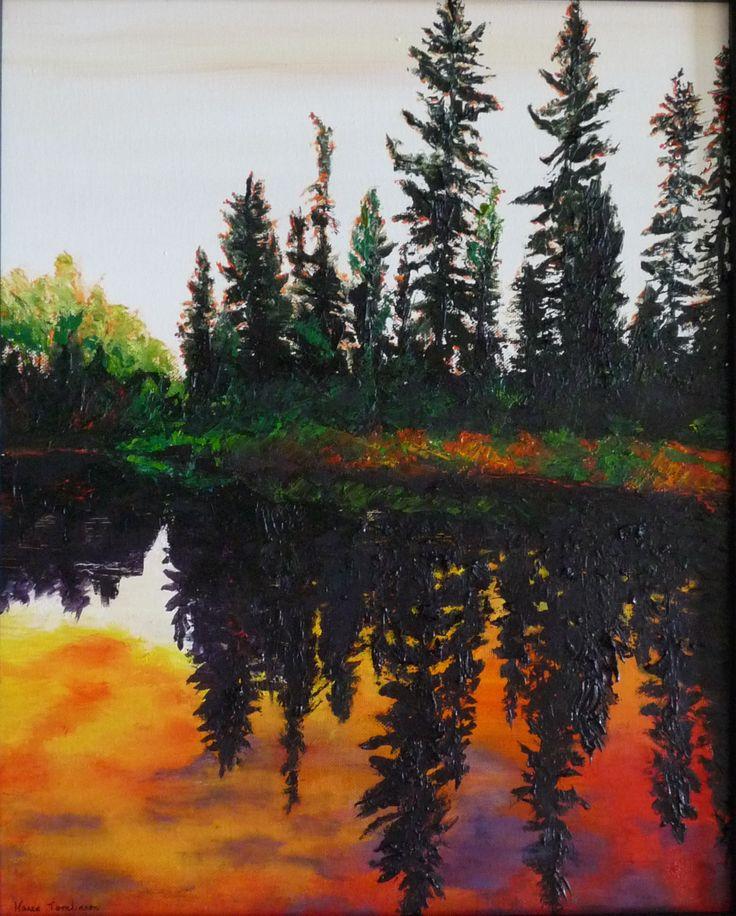 Reflected Glory original Oil painting by Karen Tomlinson, Calgary, AB.