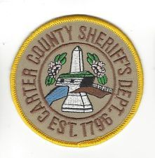 Carter County TN Tennessee Sheriff Office Dept. LEO patch - NEW