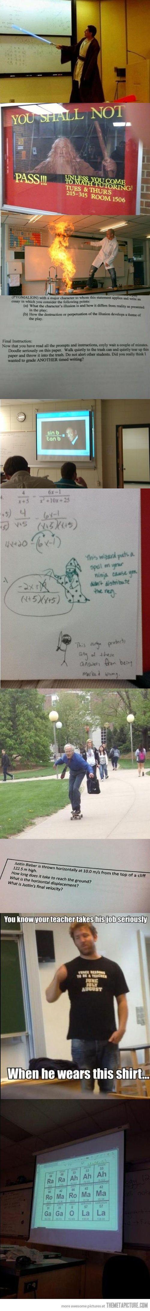We need more teachers like these…