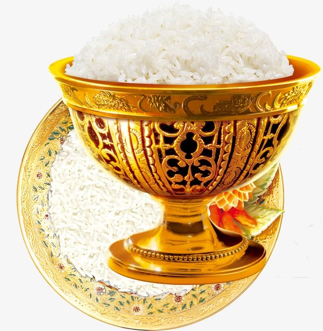 Rice Rice Png Rice Golden Bowl