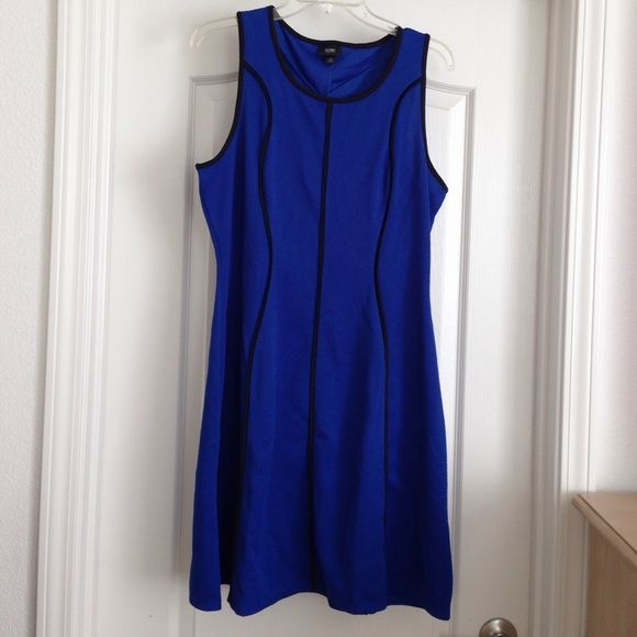 Electric blue dress Electric blue with black stripes. None smoke hm Dresses