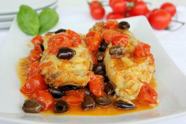 Coda di rana pescatrice alla mediterranea