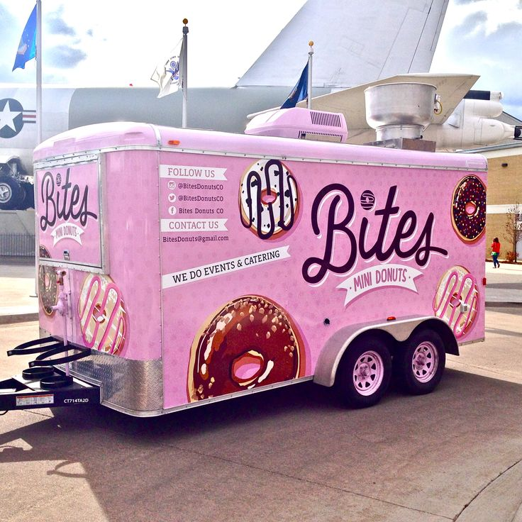 Bites Mini Donuts food truck trailer located in Denver, CO. Instagram - @BitesDonutsCO Twitter - @BitesDonutsCO Facebook - Bites Donuts CO