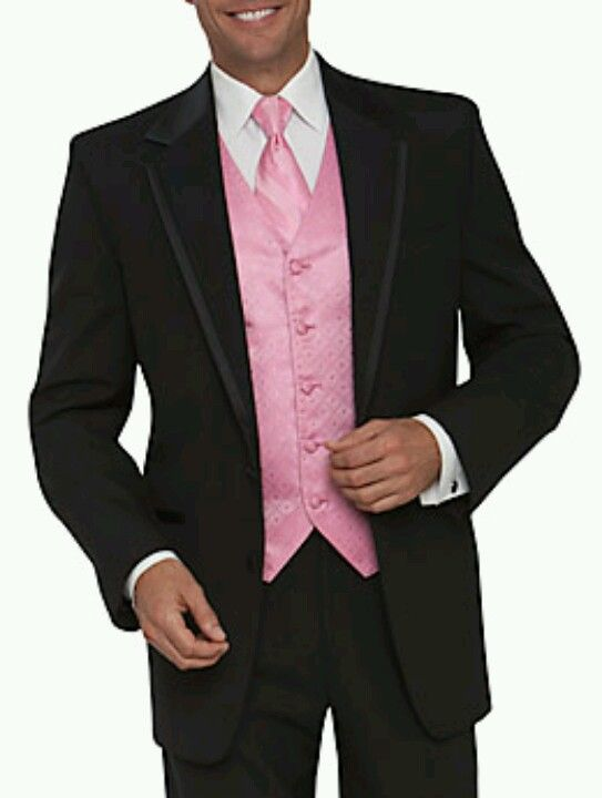The Other Half Will Where Light Pink Vest With Black Tux