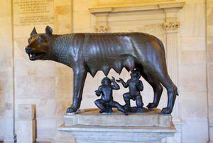 (La louve et ses jumeaux) Le cours de 6ème sur la fondation de Rome