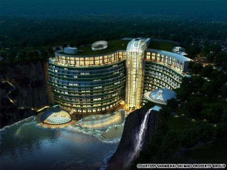 A new hotel built into a quarry in China.  Very cool.