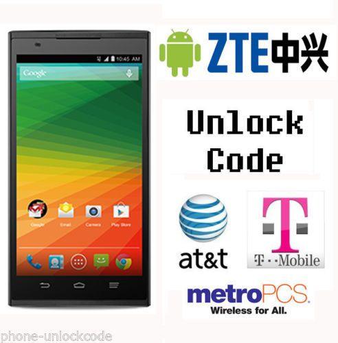 ZTE Worldwide Unlock Code) for ZTE Zmax (T-Mobile) Z970