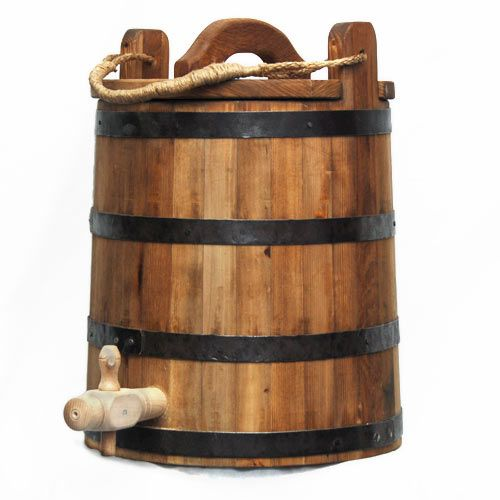 A five gallon barrel with lid and spigot -- how great would this be for water at events?