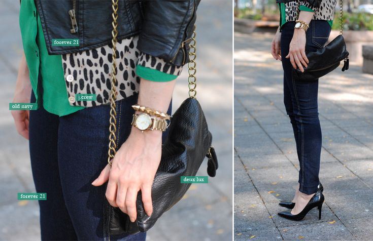 : Fashion Beautiful, Emeralds, Fall Night, Fashion Features, Green, Fashion Hair, Leopards, Fall Fashion, Faux Leather Jackets