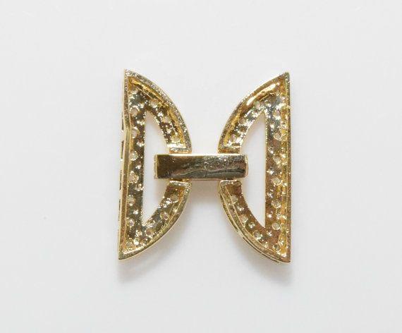 Ribbon Shape Cubic Clasp Wedding Jewelry Jewelry by GemsFlower