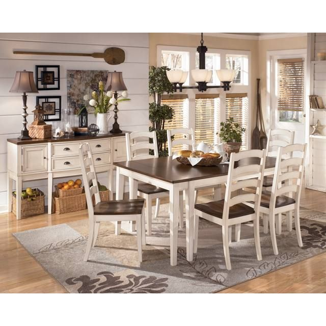 Signature Design By Ashley Whitesburg Two Tone Cottage Rectangular Dining Room Extension Table
