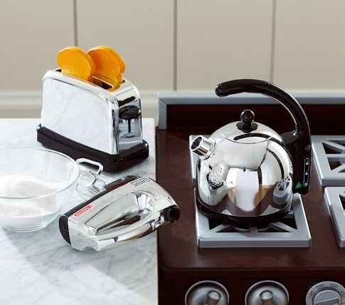 Silver Toy Kitchen Appliances | Pottery Barn Kids