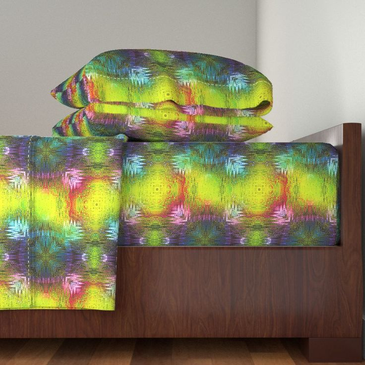 NEW WEAVE RAINBOW KILIM NAVAJO IKAT on Langshan Sheet Set by paysmage | Roostery Home Decor