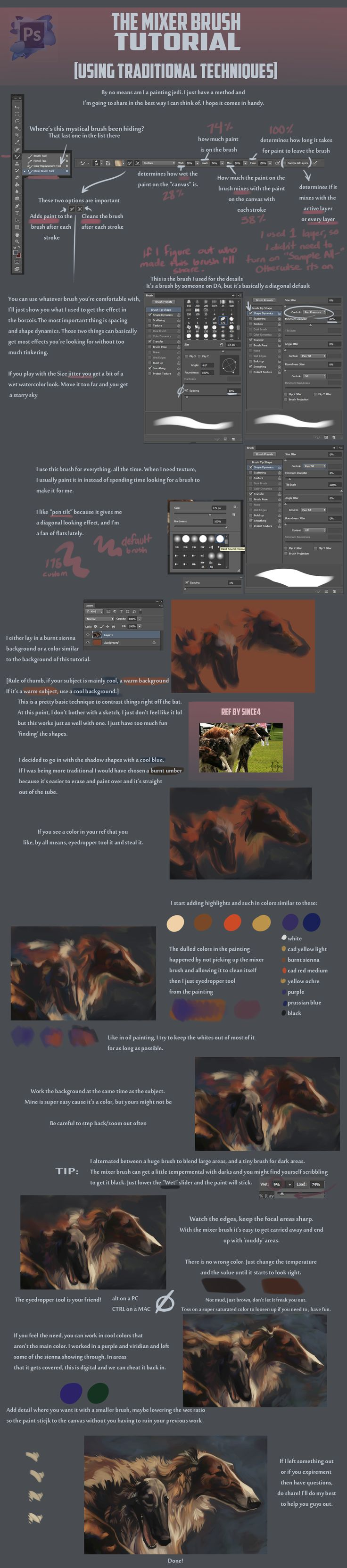 Watercolor art history brush cs6 - Mixer Brush Tutorial By Blackpassion777 On Deviantart