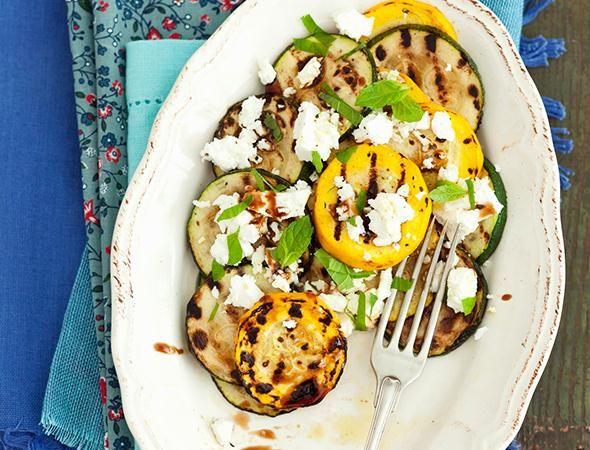 Rezept: Gegrillte Zucchini mit Feta und Balsamico-Dressing bei for me