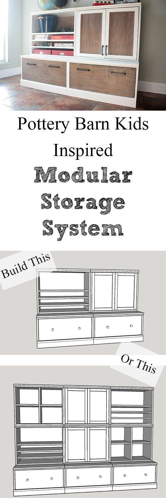 Pottery Barn Kids Inspired Modular Storage System