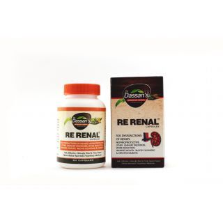 ‪Rerenal Capsules‬ are for Rejuvination of Kidneys Through herbal  Ayurveda.  Buy Dr.Dassan's Re Renal Capsules at Low price By WellnessMall with Special offer