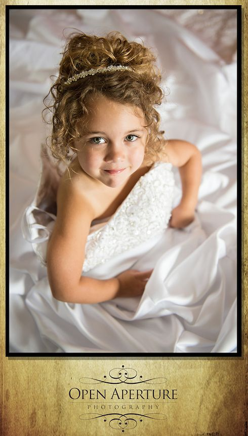 Bride's young daughter in wedding dress | Daniel and Kendall Wedding | Williamston Photographers