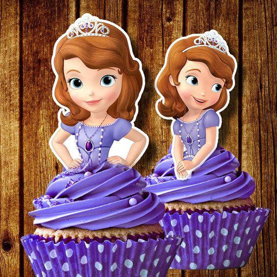 Sofia para imprimir el primer Cupcake por FancymyCupcakeTopper
