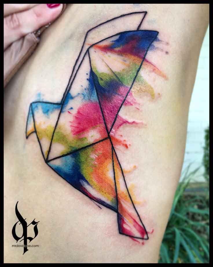 Watercolor Dove tattoo   MrDavidPoe   Tattoo Artist   Austin, TX