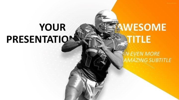 Sports - Football PowerPoint Template Sports PowerPoint - football powerpoint template