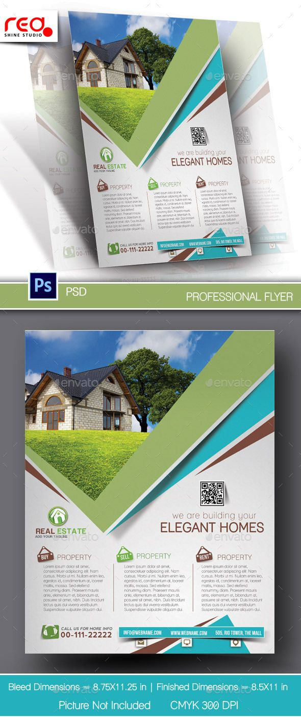 Poster design dimensions - Elegant Homes Flyer Poster Template