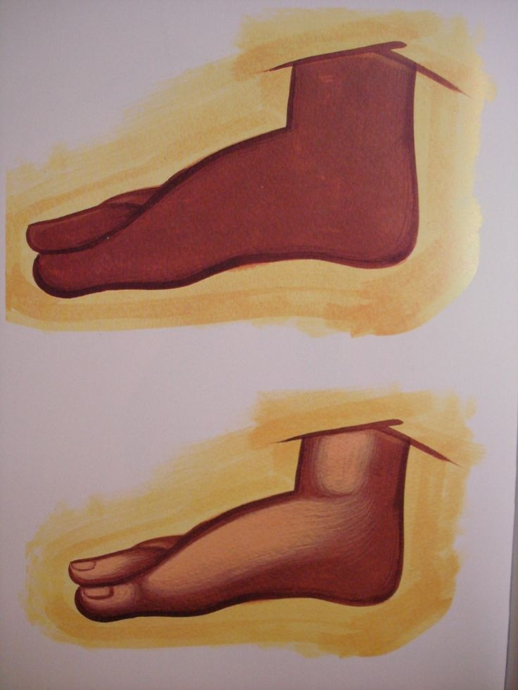 Feet.  Style of Theophanes.  Stages 1 & 2.