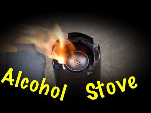 Reliable DIY Alcohol Stove with Windscreen - YouTube