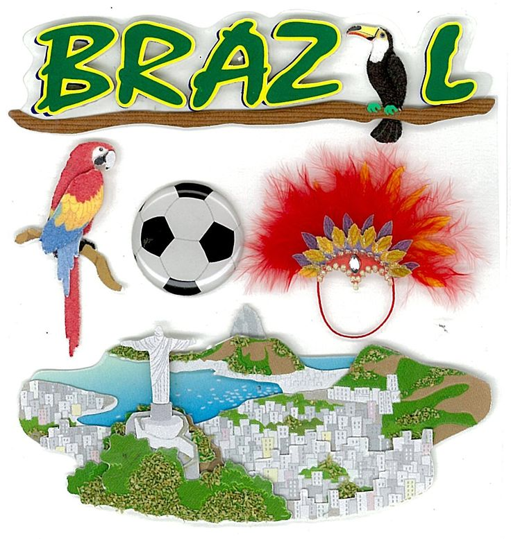 Scroll down for Brazil craft ideas.